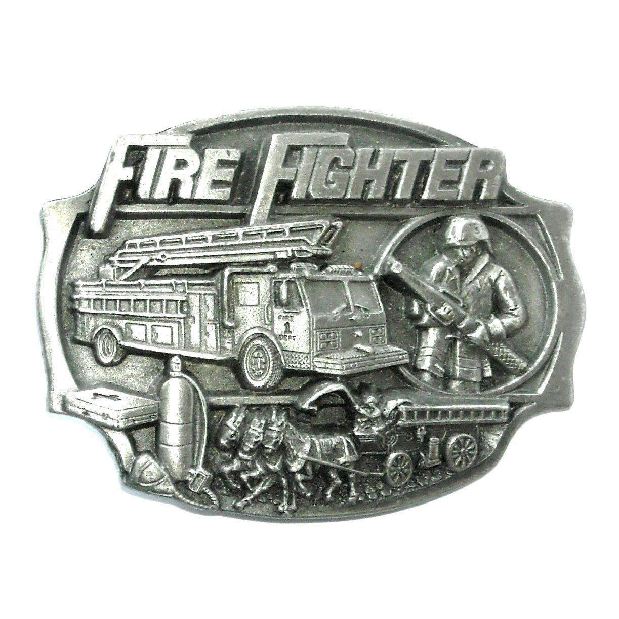 FireFighter Arroyo Grande Pewter NOS Belt Buckle