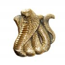 Cobra Snake 3D Baron Solid Brass NOS Belt Buckle