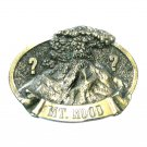 Mt Hood Oregon Great American Vintage Brass Color Belt Buckle