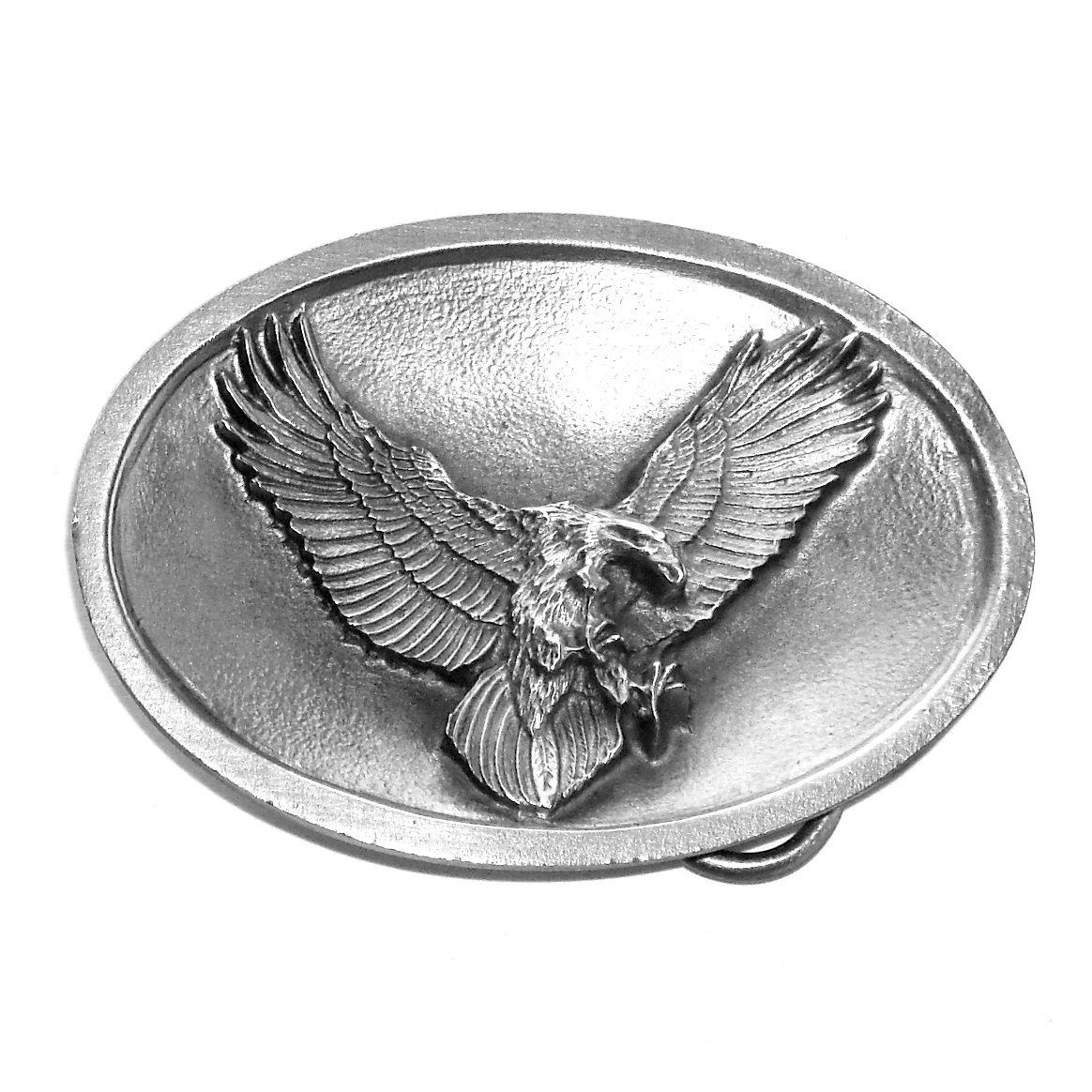 American Flying Eagle 3D Bird Bergamot Oval Western Belt Buckle