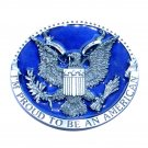 USA Seal Proud To Be An American Color Belt Buckle