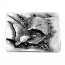 Big Largemouth Bass 3D Bergamot Pewter Belt Buckle