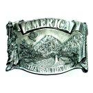 Original America The Beautiful Bergamot Pewter Belt Buckle