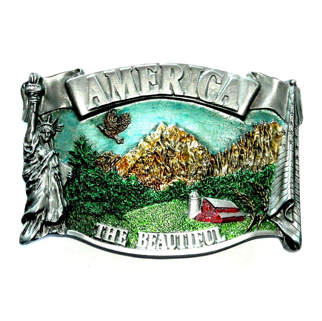 America The Beautiful Bergamot Color Belt Buckle
