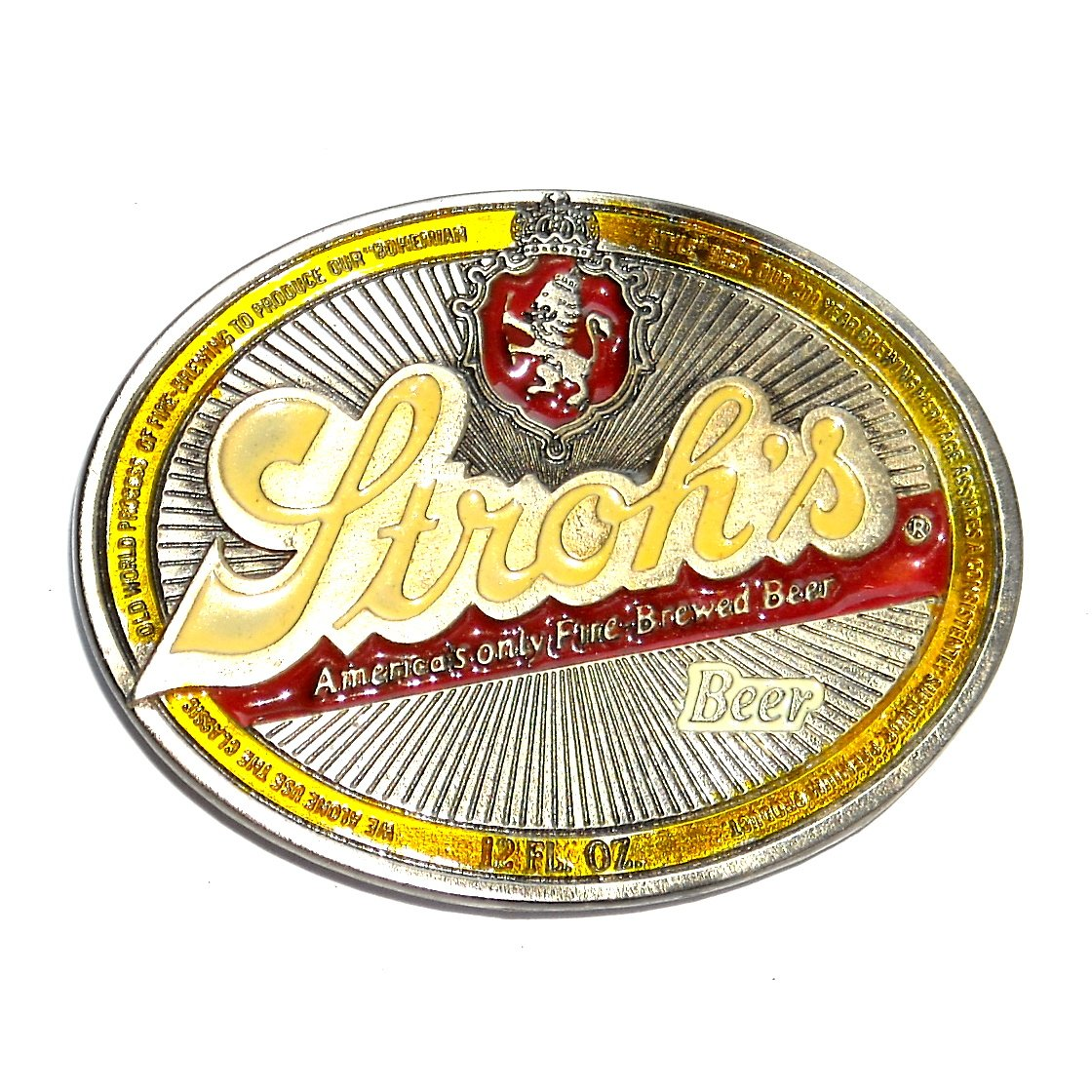 Strohs Beer Vintage Great American NOS Belt Buckle