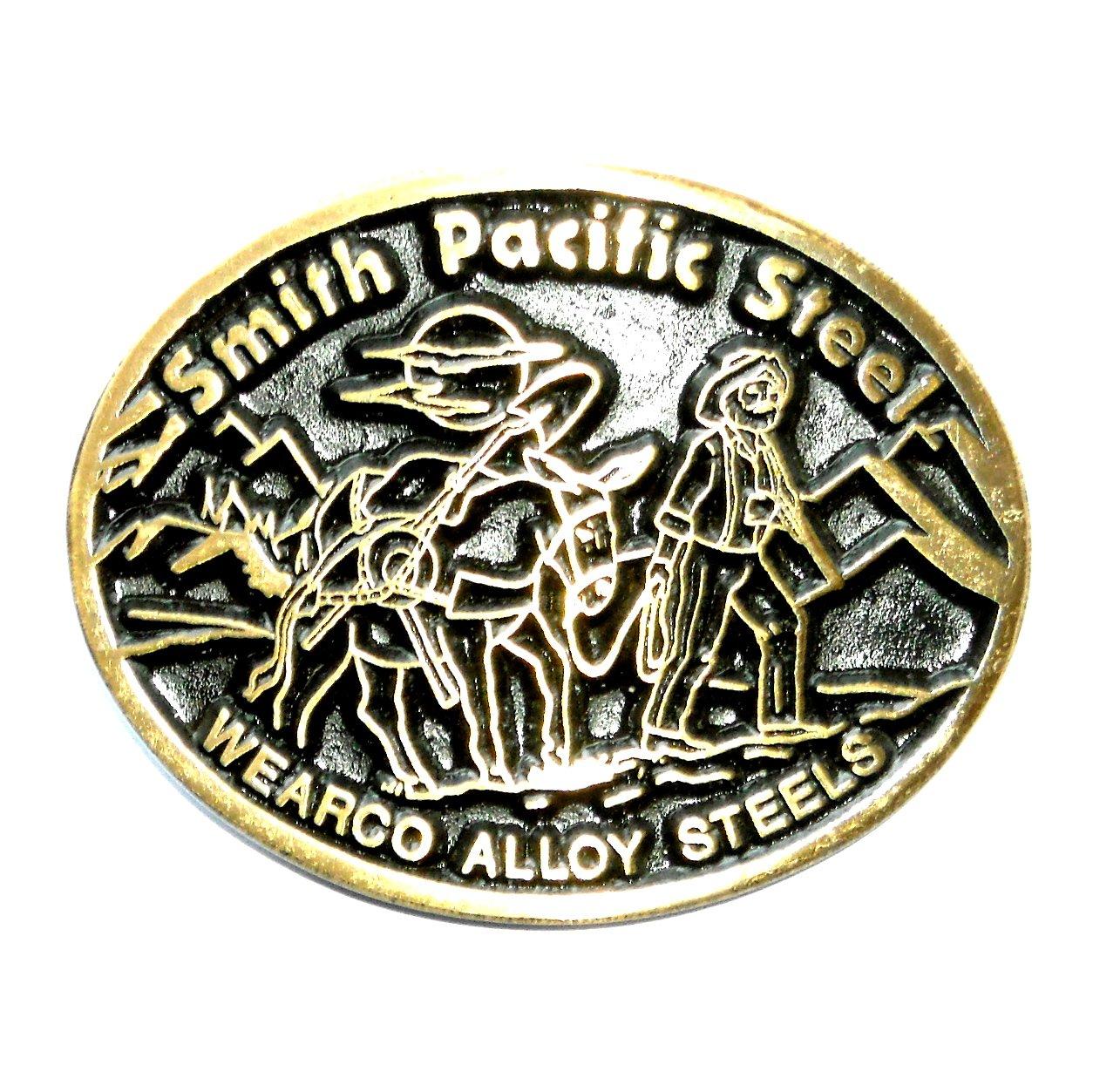 Smith Pacific Steel Dyna Brass Vintage Belt Buckle