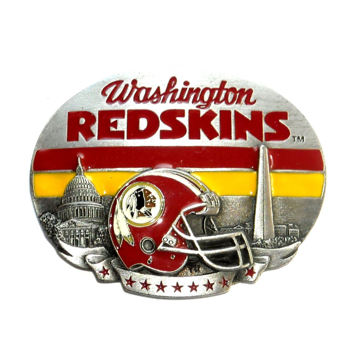 Washington Redskins NFL Vintage Siskiyou Pewter Belt Buckle