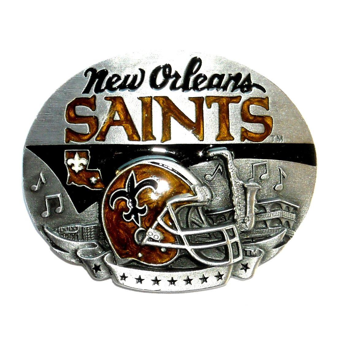 New Orleans Saints NFL Vintage Siskiyou Pewter Belt Buckle
