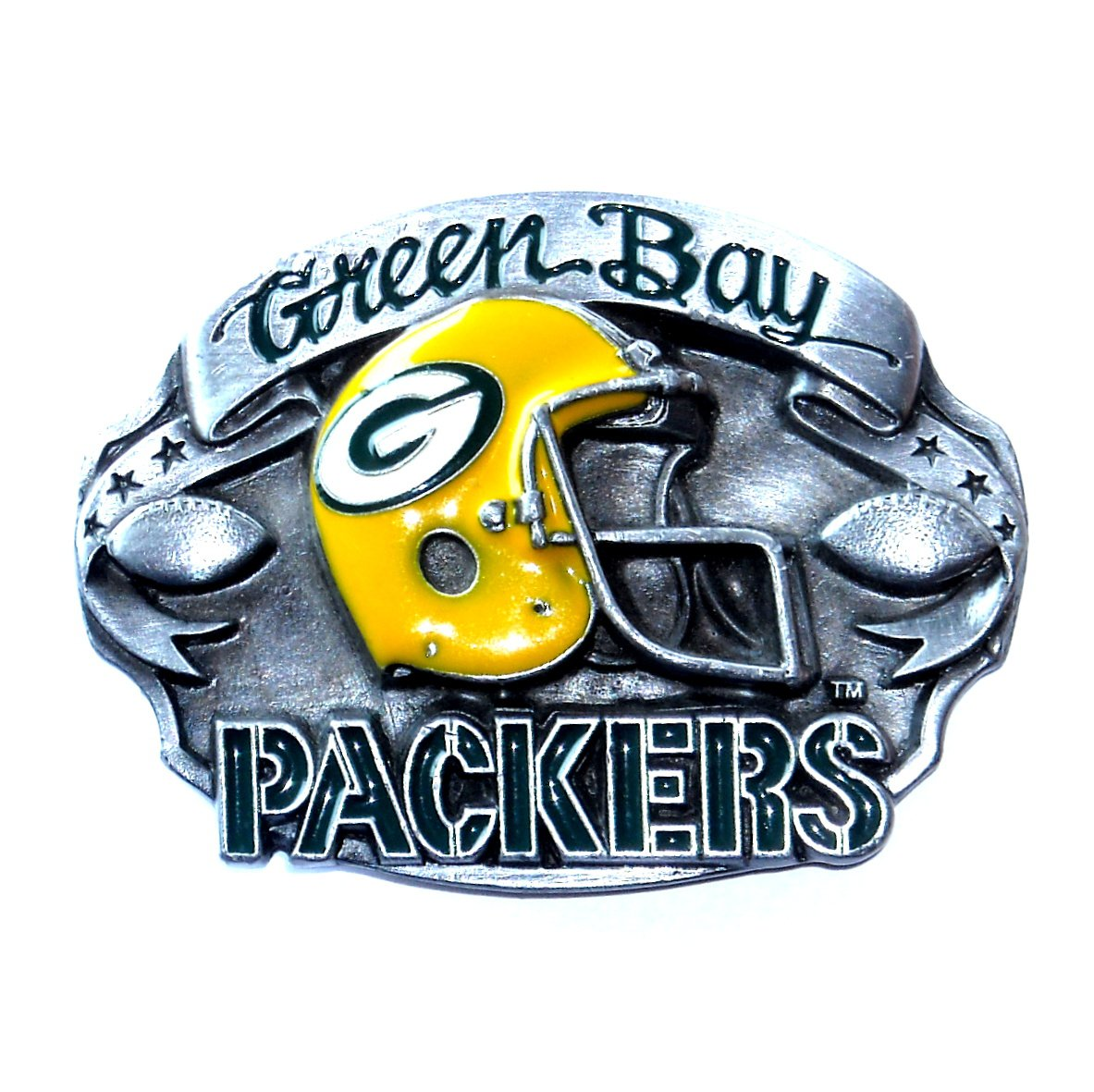 Green Bay Packers 1987 NFL Vintage Bergamot Pewter Belt Buckle