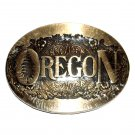 Oregon State First Edition Award Design Solid Brass Belt Buckle