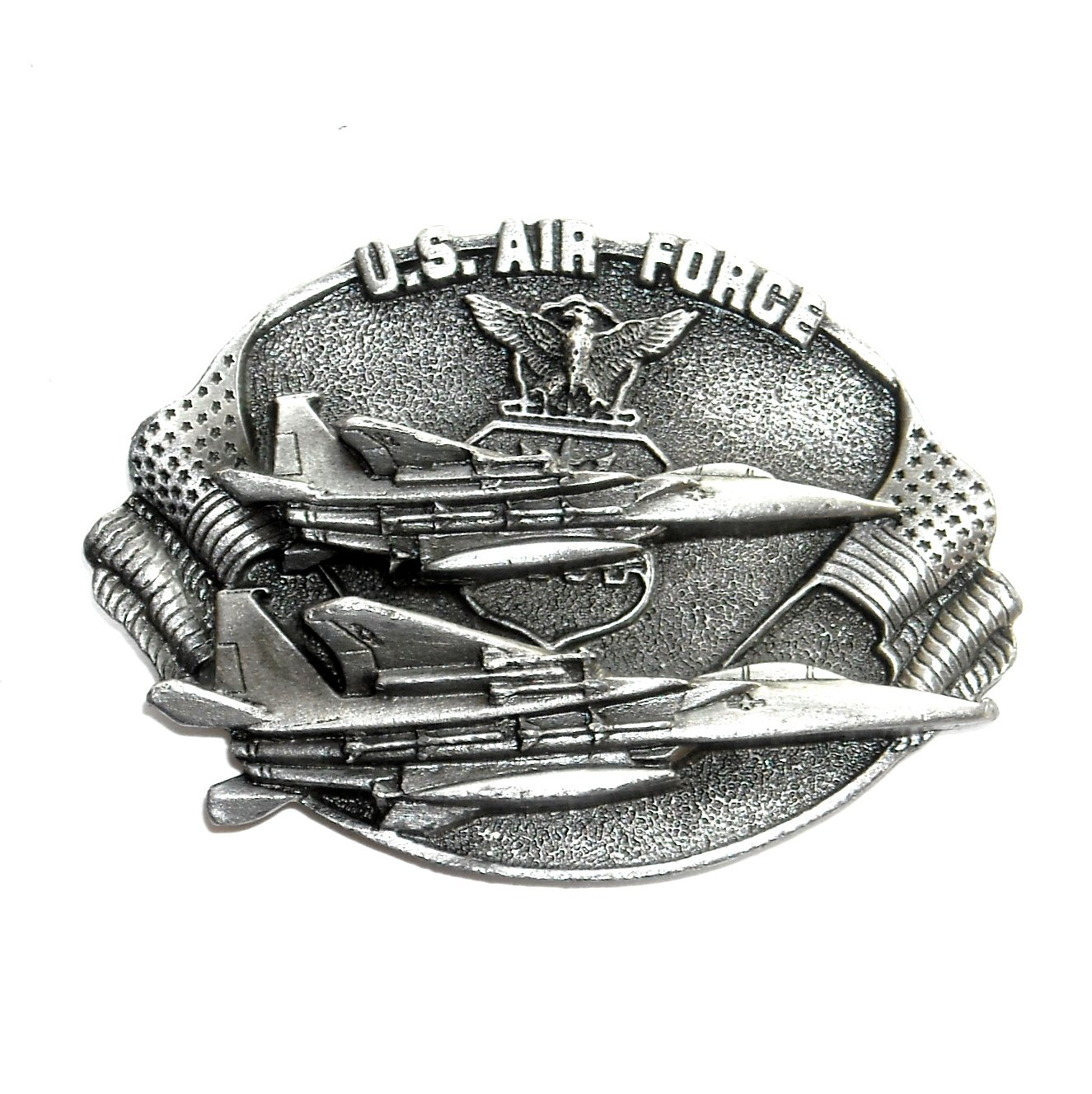 US Air Force Vintage 3D Bergamot Pewter Belt Buckle