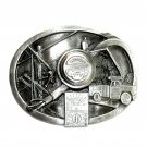 Electric Power Company Meter Reader Lineman Pewter Belt Buckle