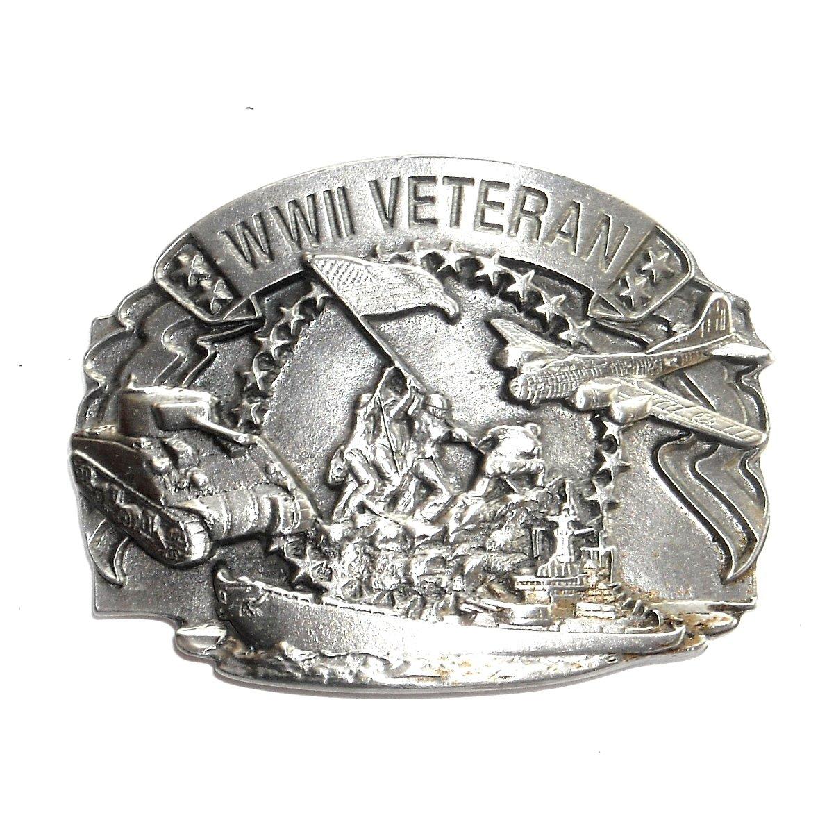 Veteran WWII Vintage Siskiyou Pewter NOS Belt Buckle
