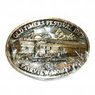 Lions Club Montana 1988 Award Design Brass Belt Buckle