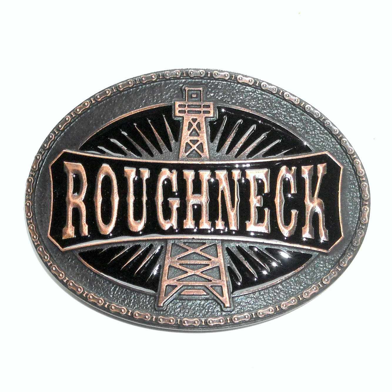 Roughneck Oil Drill Derrick Rig Montana Silversmiths Western Belt Buckle