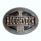 Roughneck Oil Drill Derrick Rig Montana Silversmiths Western Belt Buckle