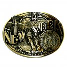 New York State Seal First Edition Award Design Brass Belt Buckle