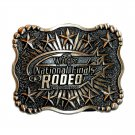 Wrangler National Finals Rodeo 2003 Montana Silversmiths Brass Belt Buckle
