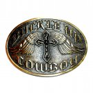 Buckle Up Cowboy Cross Angel Wings Montana Silversmiths Belt Buckle