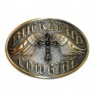 Cowgirl Buckle Up Cross Angel Wings Montana Silversmiths Belt Buckle