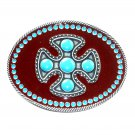 Southwest Gothic Cross Montana Silversmiths Western Belt Buckle