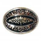 Hardcore Cowboy Montana Silversmiths Attitude Belt Buckle