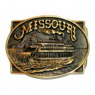 Missouri Heritage Mint Solid Brass Vintage Belt Buckle