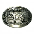 Paint Horse Tony Lama Breeder Series Brass Belt Buckle