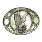 American Bald Eagle Siskiyou Pewter Western Belt Buckle