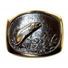Trout Steven Knight Vintage BTS Solid Bronze Belt Buckle