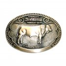 Simmental Tony Lama First Edition Brass Belt Buckle