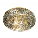 1900 Metropolitan Steamer Fire Engine Firefighter Belt Buckles