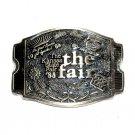 Kansas State Fair 1988 Award Design Solid Brass Belt Buckle