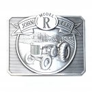 John Deere Model R Tractor Pewter 1990 Belt Buckle
