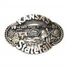 Kansas State Fair 1984 Award Design Solid Brass Belt Buckle