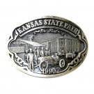 Kansas State Fair 1990 Award Design Solid Brass Belt Buckle