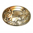 Robert Henderson Team Roper Tony Lama Trophy Brass Belt Buckle
