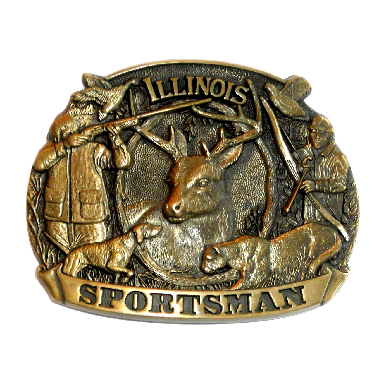 Illinois Sportsman First Edition ADM Brass Belt Buckle