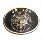 Oregon Solid Bronze American Casted Belt Buckle