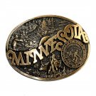 Minnesota Vintage Montana Silversmiths Brass Belt Buckle