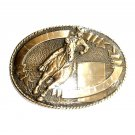 Robert Henderson Barrel Racing Tony Lama Trophy Brass Belt Buckle