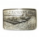 Sunflower Model 6330 Pewter Belt Buckle