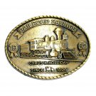 RailRoad Savings 1982 Cyrus Holliday Brass Color Belt Buckle
