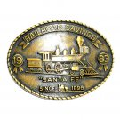Santa Fe RailRoad Savings 1983 Brass Color Belt Buckle