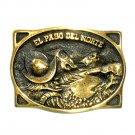 El Paso Del Norte Heritage Mint Solid Brass Vintage 1976 Belt Buckle
