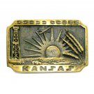 Kansas Oil Derrick Heritage Mint Solid Brass 1978 Belt Buckle