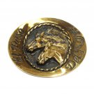 Stallions El Paso Del Norte State National Heritage Mint Solid Brass Belt Buckle
