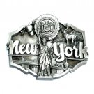 New York State Seal Pewter Belt Buckle