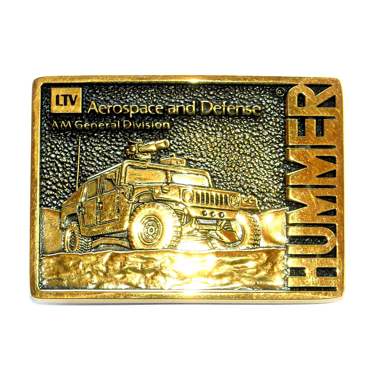 Hummer LTV Aerospace Defense BTS Solid Brass Belt Buckle