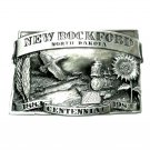 New Rockford North Dakota Bergamot Pewter Belt Buckle